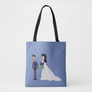 8bit Geek Gothic Til Death Do Us Part Wedding Tote Bag
