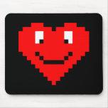 8bit Heart Face Mouse Pad