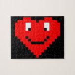 8bit Heart Face Puzzles