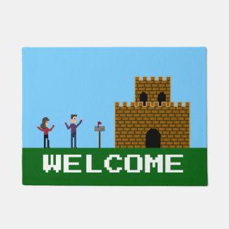 8Bit Pixel Gamer Welcome Home Doormat