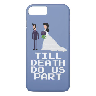 8bit Pixel Geek Gothic Gamer Til Death Do Us Part iPhone 8 Plus/7 Plus Case