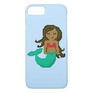 8Bit Pixel Geek Mermaid with Dark Skin iPhone 8/7 Case