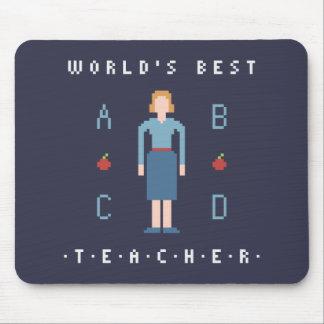 8Bit Style Best Teacher Mouse Pad