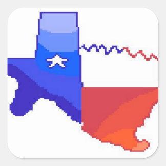 8Bit Texas Stickers