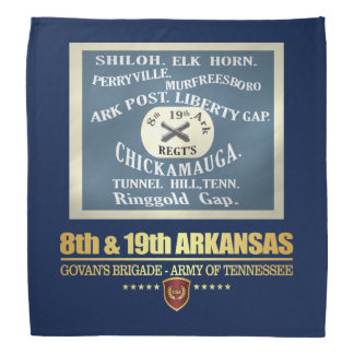 8th & 19th Arkansas Infantry (F10) Bandana