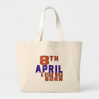 8th April a star was born Canvas Bag