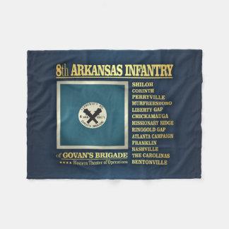 8th Arkansas Infantry (BA2) Fleece Blanket