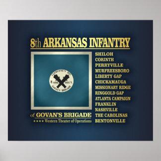 8th Arkansas Infantry (BA2) Poster
