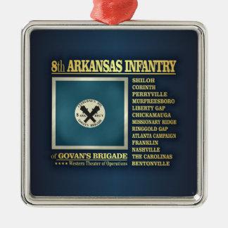 8th Arkansas Infantry (BA2) Silver-Colored Square Decoration