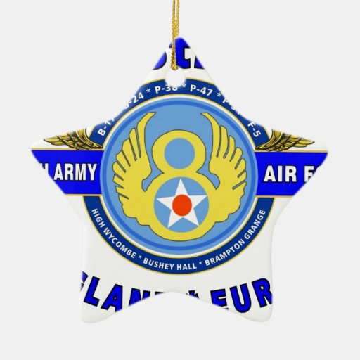 """8TH ARMY AIR FORCE """"ARMY AIR CORPS"""" WW II CHRISTMAS ORNAMENTS"""