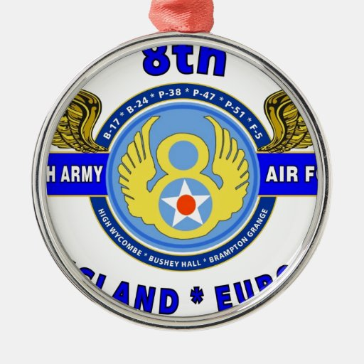 """8TH ARMY AIR FORCE """"ARMY AIR CORPS"""" WW II CHRISTMAS TREE ORNAMENTS"""