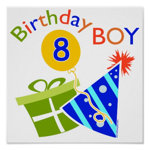 8th Birthday - Birthday Boy Print