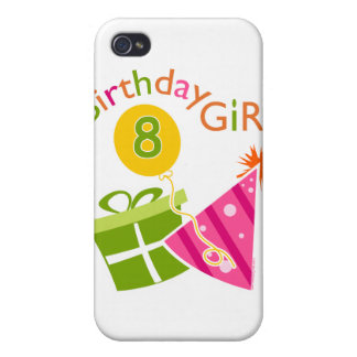 8th Birthday - Birthday Girl Case For The iPhone 4
