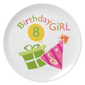 8th Birthday - Birthday Girl Dinner Plates