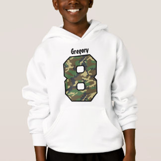 8th Birthday Boy Camo Eight Year Custom Name V01A