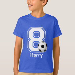8th Birthday Boy Soccer Personalized 2 T Shirt