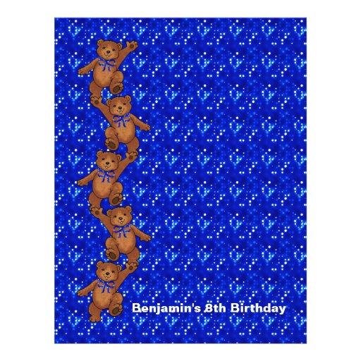 8th Birthday Dancing Bear Scrapbook Paper 2 Custom Flyer