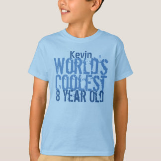 8th Birthday Gift World's Coolest 8 Year Old T-Shirt