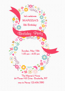 8th Birthday Invitations