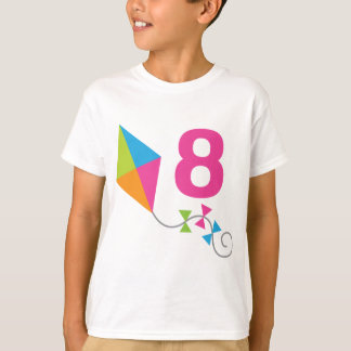 8th Birthday Kite Design Gift T-Shirt