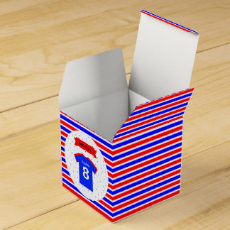 8th birthday party custom name sports favour box