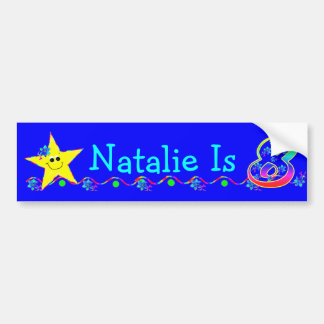 8th Birthday Party Smiley Stars Bumper Stickers