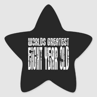 8th Birthday Party Worlds Greatest Eight Year Old Star Stickers