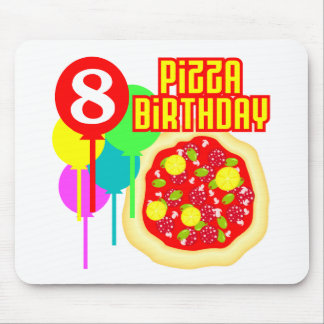 8th Birthday Pizza Birthday Mouse Pad