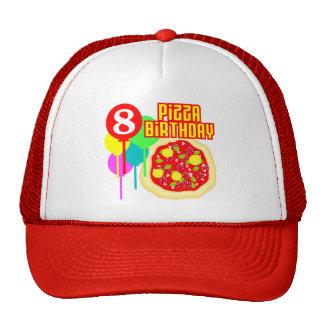 8th Birthday Pizza Birthday Trucker Hat