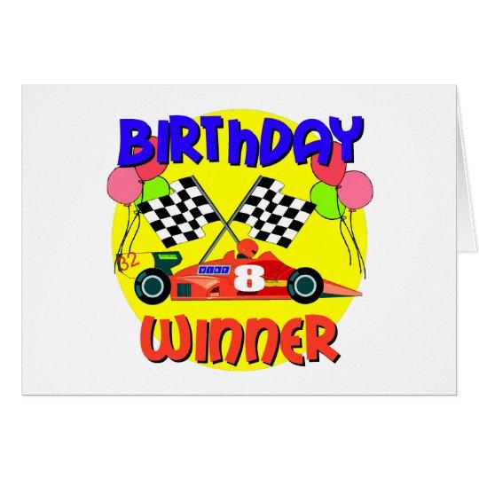 8th Birthday Race Car Birthday Card