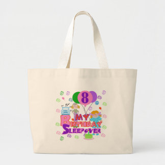 8th Birthday Sleepover Large Tote Bag