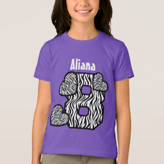 8th Birthday Zebra Hearts Eight Year Old 10GN2 Tshirts