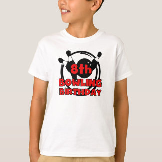 8th Bowling Birthday T-Shirt