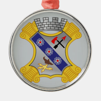 8th Infantry Regiment - DUI Round Metal Christmas Ornament