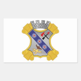 8th Infantry Regiment - DUI Rectangular Sticker