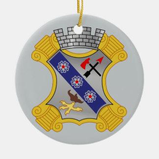 8th Infantry Regiment - DUI Round Ceramic Decoration
