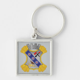 8th Infantry Regiment - DUI Silver-Colored Square Key Ring