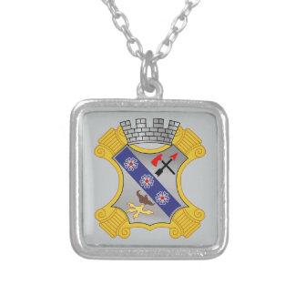 8th Infantry Regiment - DUI Square Pendant Necklace