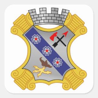 8th Infantry Regiment - DUI Square Sticker