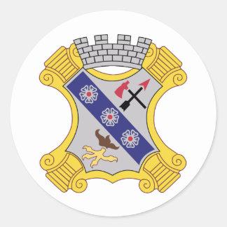 8th Infantry Regiment Patch Round Stickers