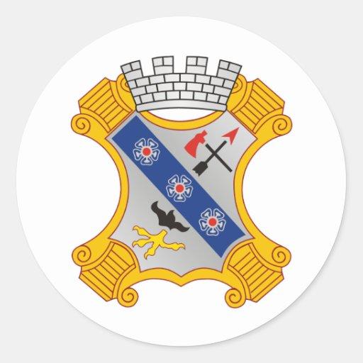8th Infantry Regiment Round Sticker