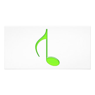 8th Music Note Flipped Lime green Size Grande 2010 Photo Card Template