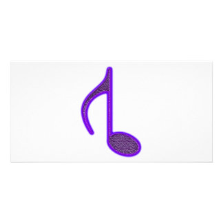 8th Musical Note Reversed Large Created 2010 Custom Photo Card