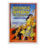 8th National Orange Show 1918 Poster