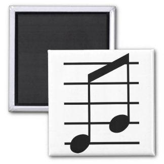 8th note 3 square magnet