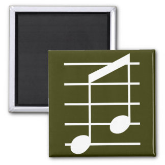 8th note 4 square magnet