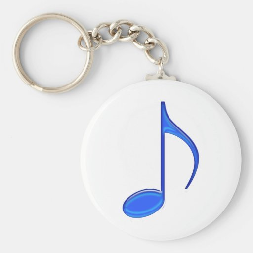8th Note Blue Large 2010 Key Chain