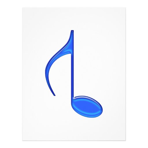 8th Note Created Backwords Royal Blue Large Full Color Flyer