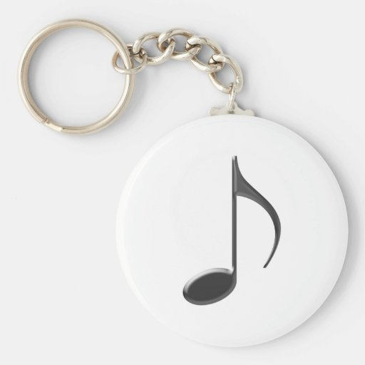 8th Note Large Black 2010 Keychain