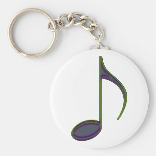 8th Note Large Purplish Key Chains